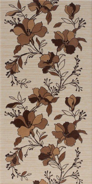 01b Dekoor Rustico garden brown 25x50 - Hansas Plaadimaailm
