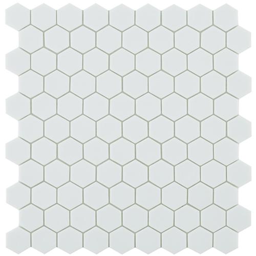 Mo Basic Matt White 910 hex 3,5x3,5 - Hansas Plaadimaailm