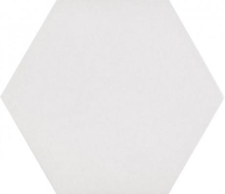Basic white hex 21x25 R9 - Hansas Plaadimaailm