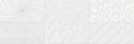 Decor Camaleonte mix blanco 20x60 - Hansas Plaadimaailm
