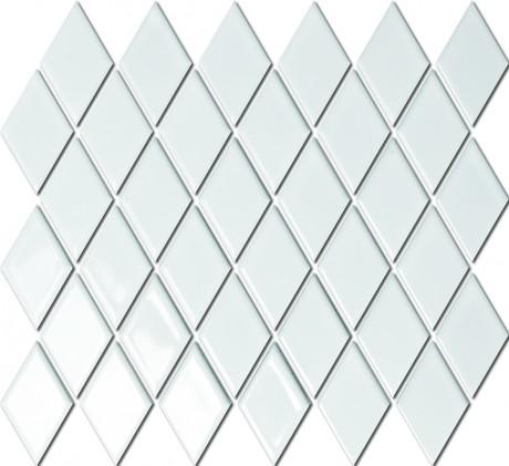 DIAMOND RHOMBE WHITE GLOSSY BHPAC01012 48x48mm - Hansas Plaadimaailm
