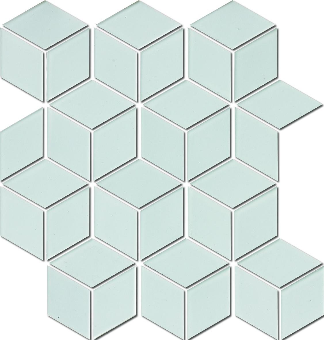 DIAMOND HEX WHITE HPAW6570 MATT R10 48x48mm - Hansas Plaadimaailm