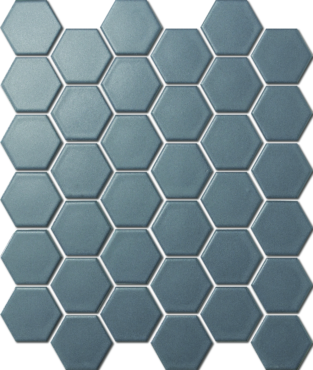 HEXAGON D.GREY MATT HC02069 R10 51x59mm - Hansas Plaadimaailm