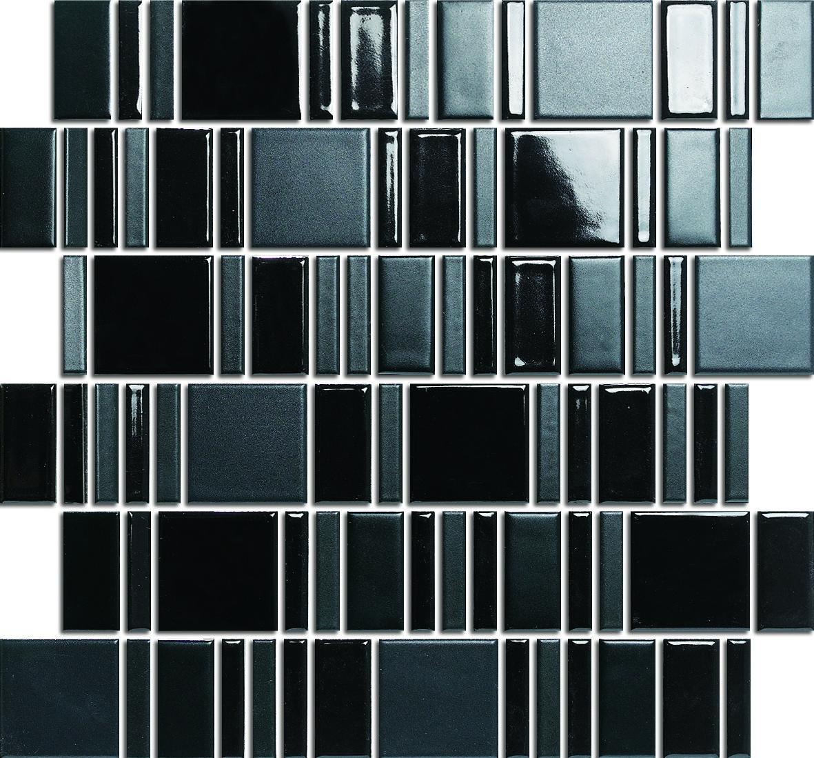 BLOCK STRIPE BLACK HAA002MIX R10 10,5+23+28x48mm - Hansas Plaadimaailm