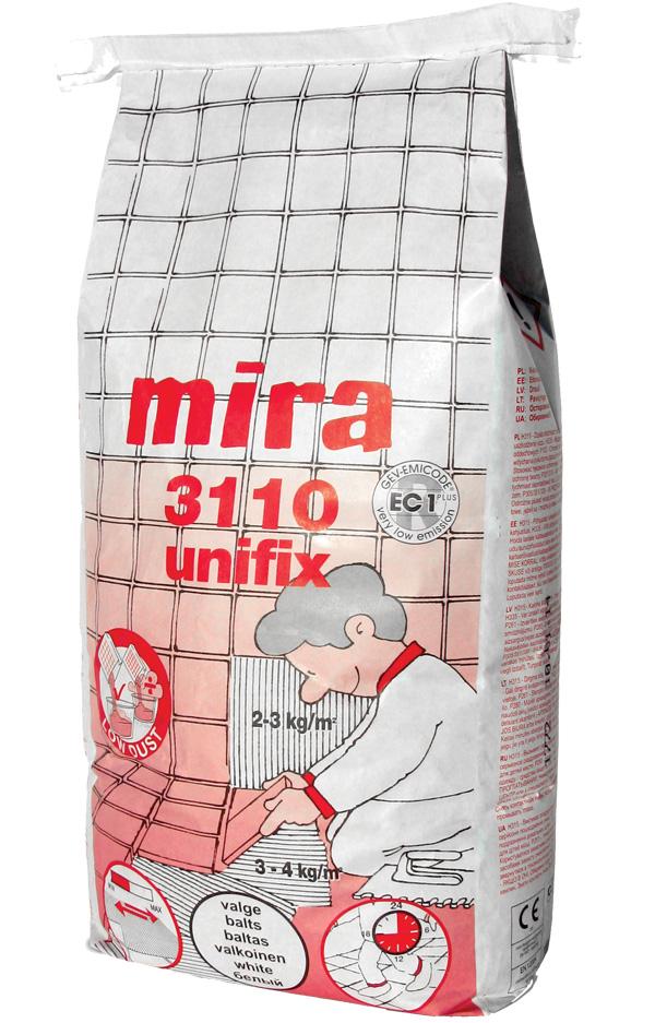 Mira 3110 unifix valge, C2TE S1 25kg - Hansas Plaadimaailm