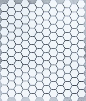 HEXAGON WHITE MATT small HU0101 R10 23x26mm - Hansas Plaadimaailm
