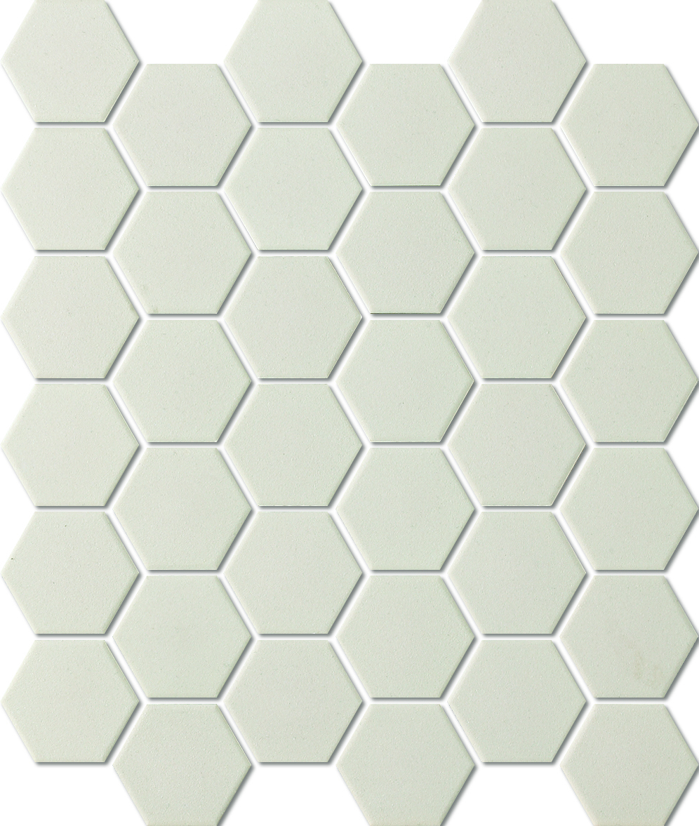 UNGLAZED HEXAGON WHITE SHC23229 R11 51x59mm - Hansas Plaadimaailm