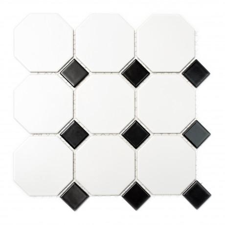 Mosaiik Octa schwarz 9,5x9,5 - Hansas Plaadimaailm