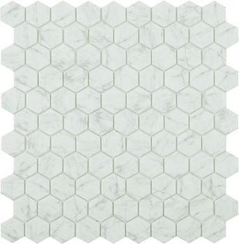 Mo Carrara grey hex HX 4300 35x35mm - Hansas Plaadimaailm