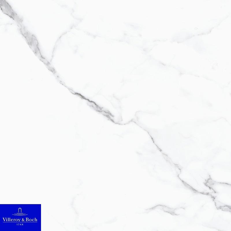 Nocturne white polished 2660-ZN1P rect. 60x60x1 - Hansas Plaadimaailm