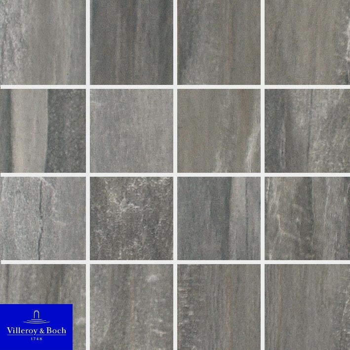 72 Mosaiik Townhouse anthracite 2114-LC95 R9 7,5x7,5 - Hansas Plaadimaailm