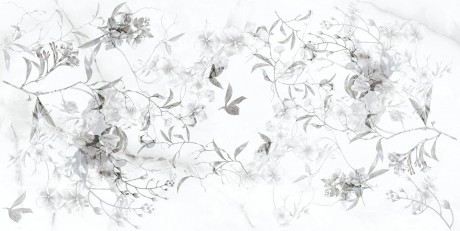 Angora Floral Motif grey 273632 30x60x0,85 - Hansas Plaadimaailm